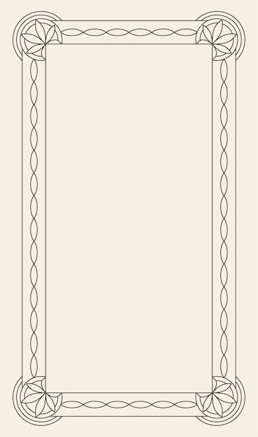 Retro luxury invitation, royal certificate. flourishes frame. Premium Vector