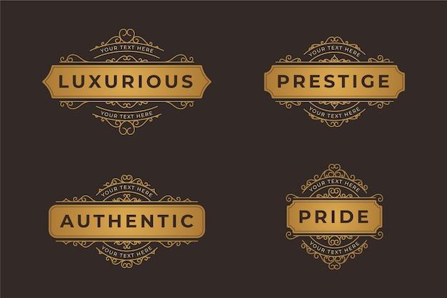 Retro luxury logo set Free Vector