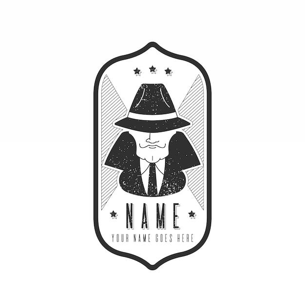 Ретро мафия логотип Бесплатные векторы