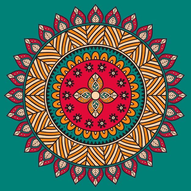 Retro mandala illustration Free Vector