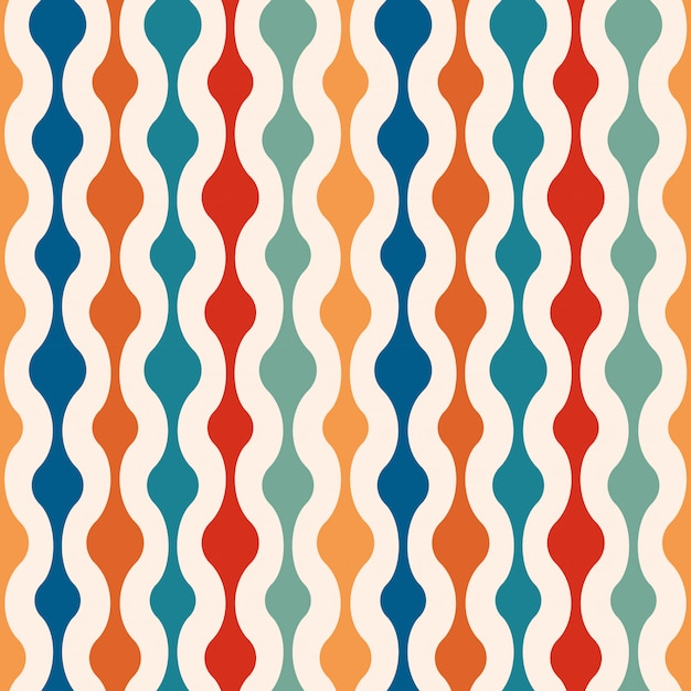 Retro minimal seamless pattern background Premium Vector