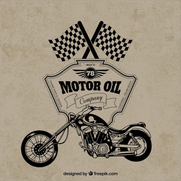 Retro motorcycle badge