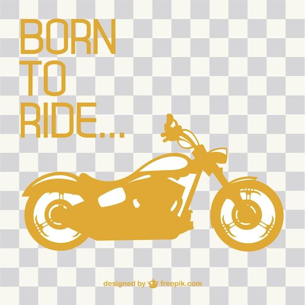 Retro motorcycle ride vector