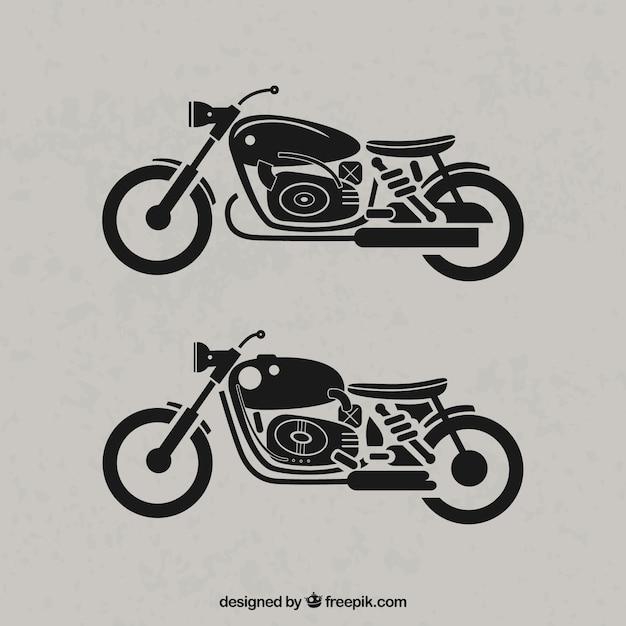 Retro motorcycles Free Vector