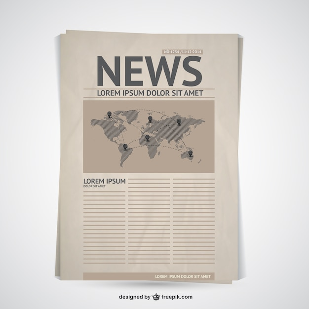 Retro newspaper Free Vector