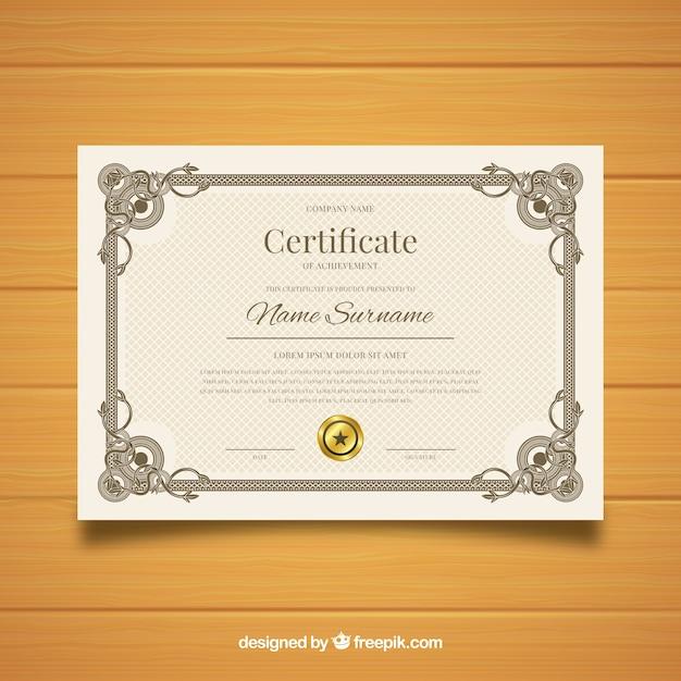 Retro Ornamental Certificate Template Design