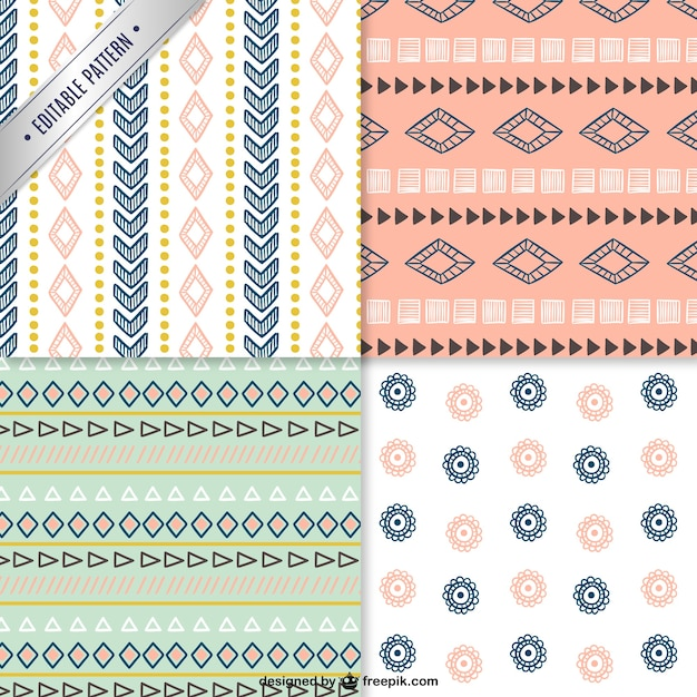 Retro patterns Free Vector