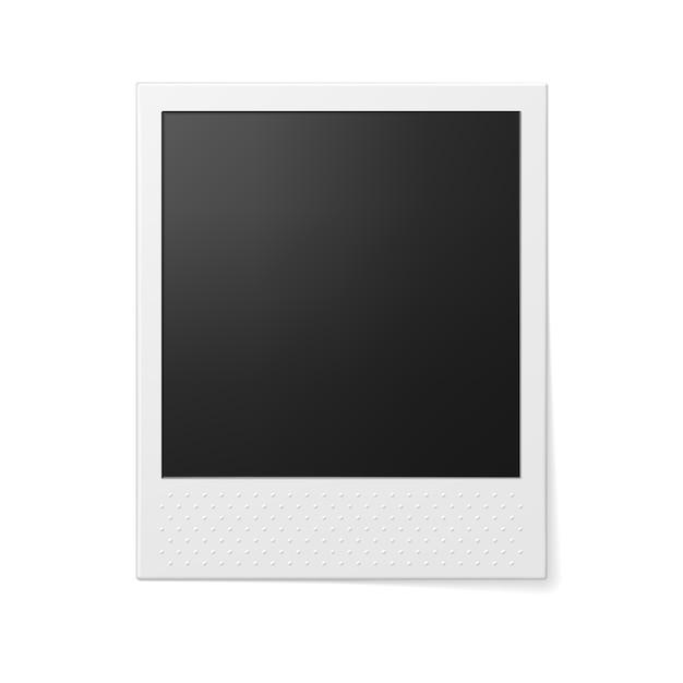 Retro photo frame Premium Vector