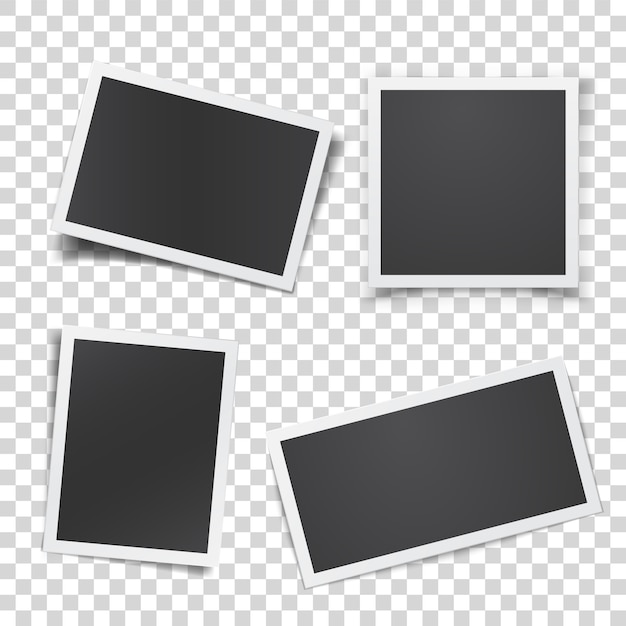 Ретро фотография набор изолированных Premium векторы