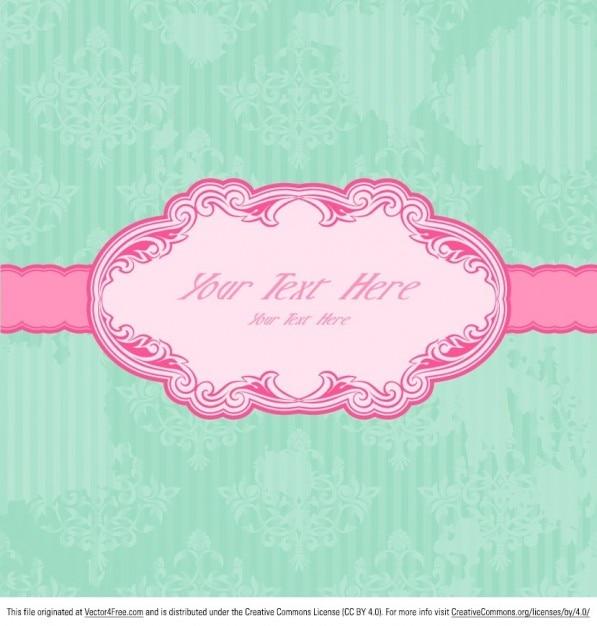 Retro pink label invitation card vector free download retro pink label invitation card free vector stopboris Images