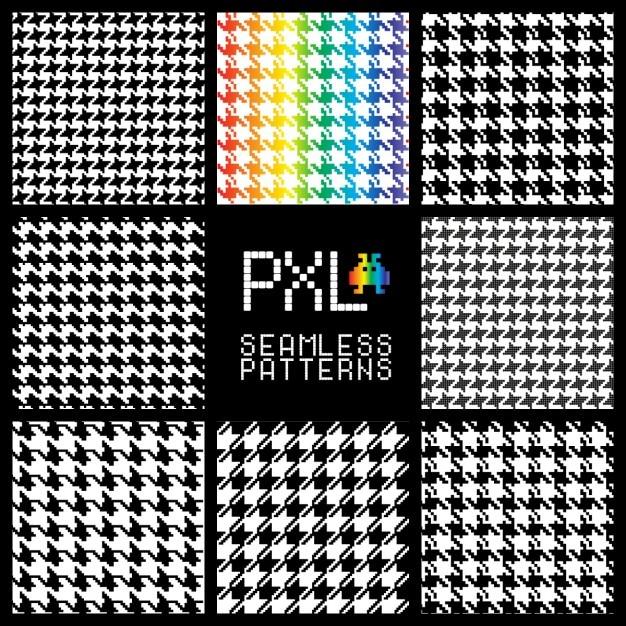 Retro Pixel Patterns Vector Free Download Impressive Pixel Patterns