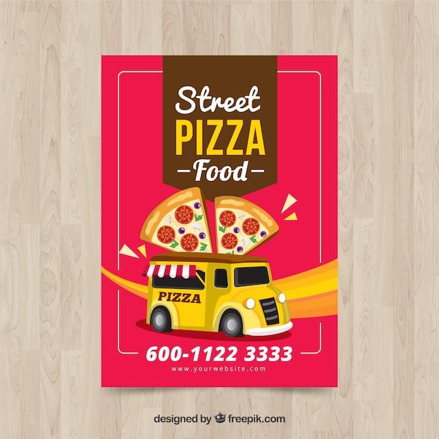 Retro pizza brochure