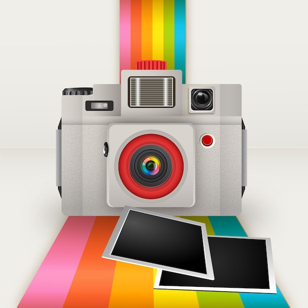 Préférence Retro polaroid Vector | Free Download EK71