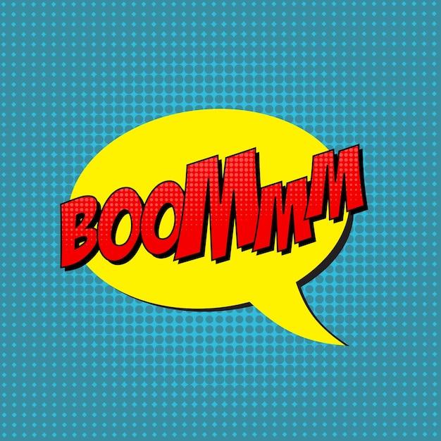 Retro pop art comic shout seamless pattern Premium Vector