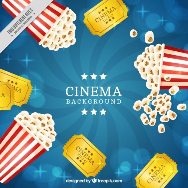 Popcorn Wallpaper: Retro Popcorn Background And Movie Tickets Vector