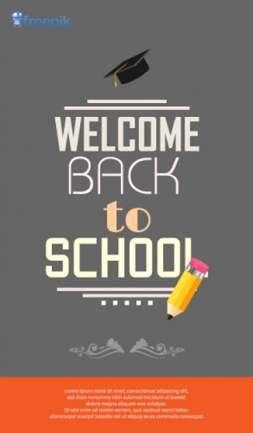 Retro Poster Welcome Back to School Vector | Free Download