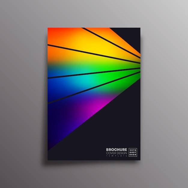 Retro poster with colorful gradient rays Premium Vector