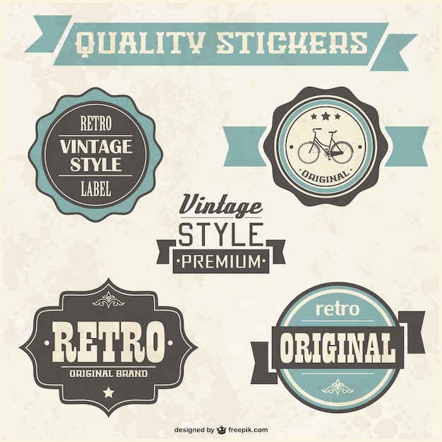 Retro quality badges Vector | Free Download