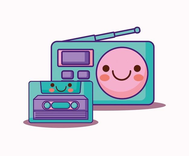 Retro radio Premium Vector