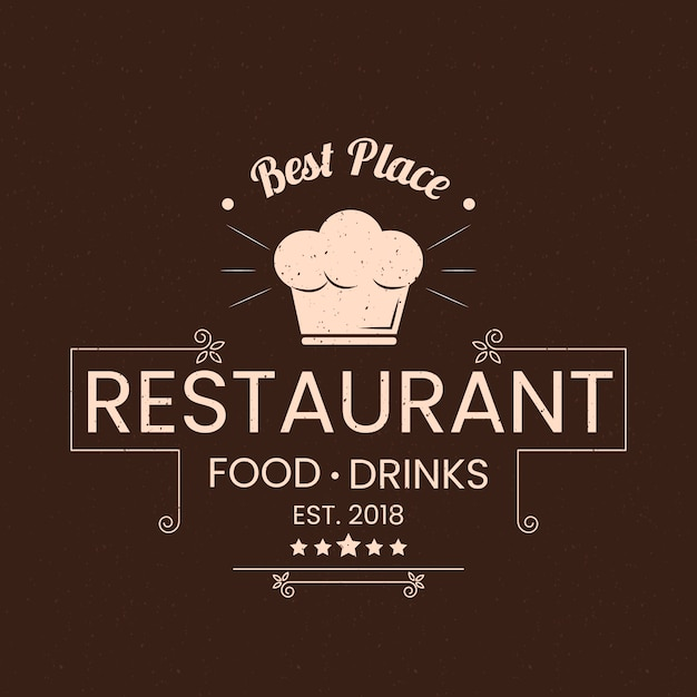 Retro restaurant logo concept Free Vector
