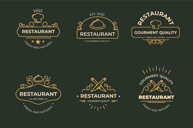 Retro restaurant logo template concept Free Vector