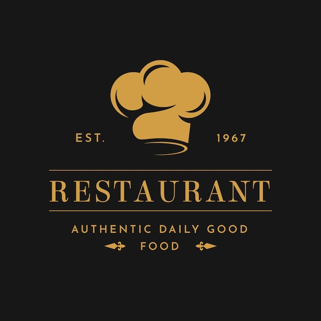 Retro restaurant logo Free Vector