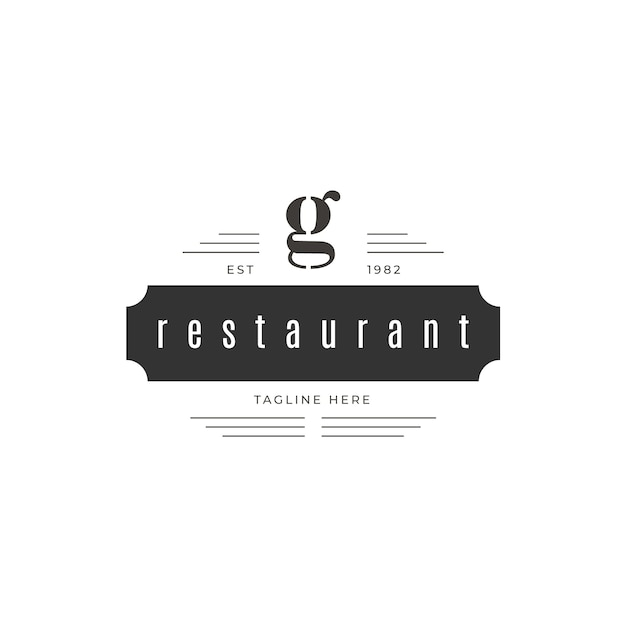Retro restaurant logo Free Vector