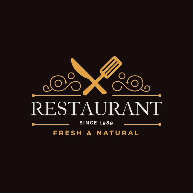 Retro restaurant logo Premium Vector
