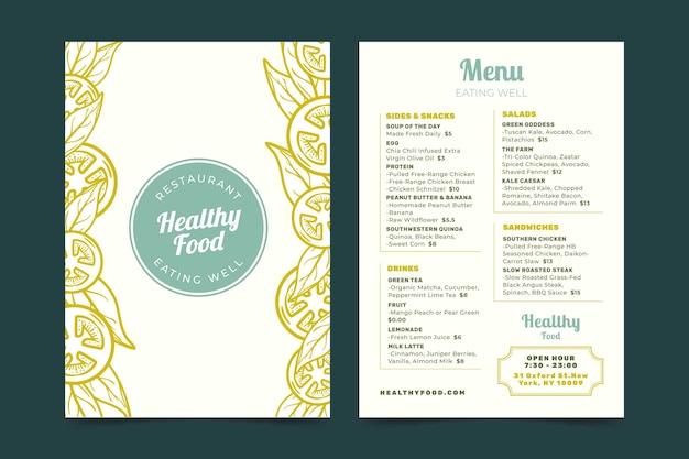Retro restaurant menu template Free Vector