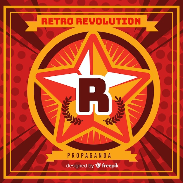 Retro revolution propaganda Free Vector