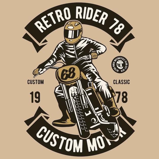 Retro rider Premium Vector
