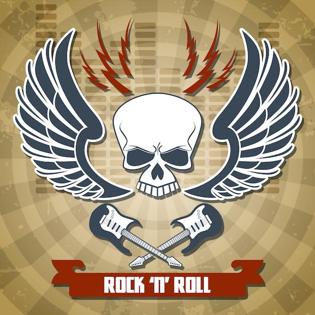 Retro rock background Free Vector