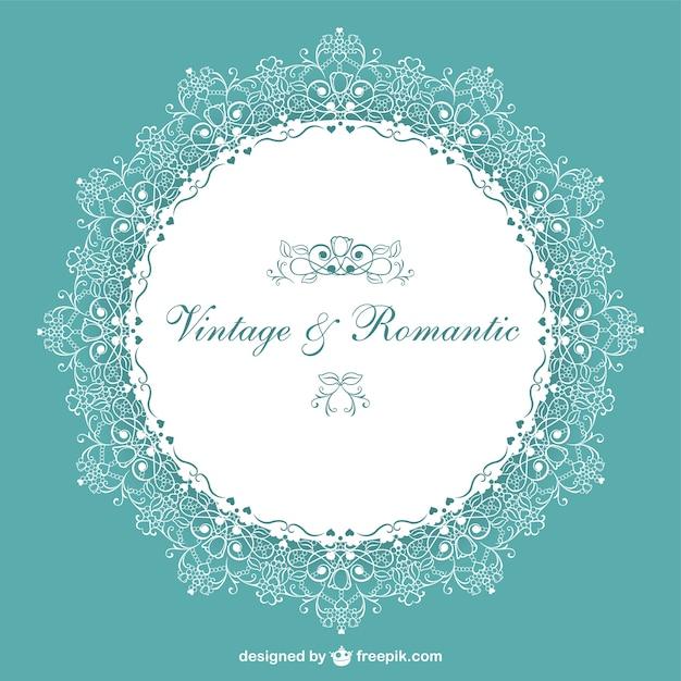 Retro romantic wedding invitation vector free download retro romantic wedding invitation free vector stopboris Gallery