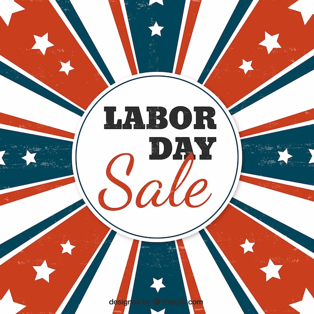 Retro sales background of american labor day