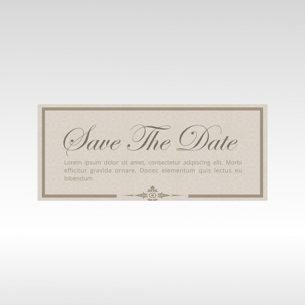 Retro save the date template vector free download for Free vintage save the date templates
