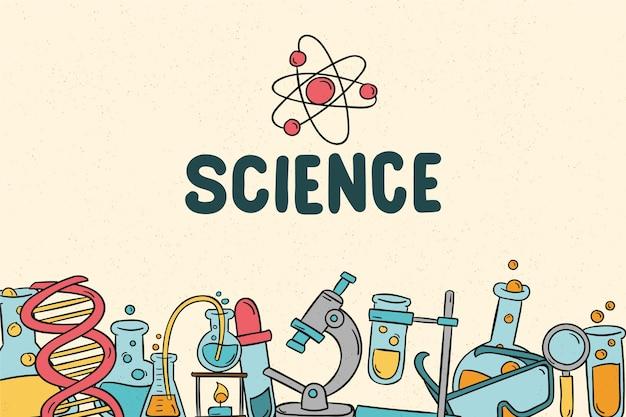 Retro science education background Free Vector