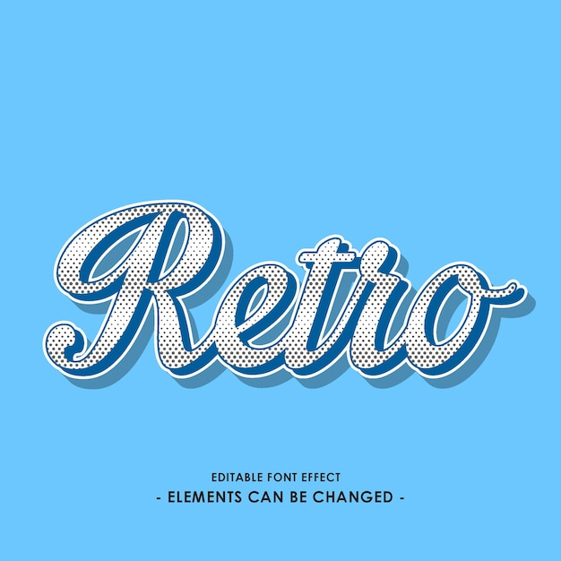 Retro script font effect Vector   Premium Download