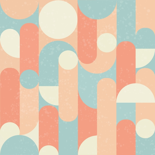 Retro seamless pattern design. Premium Vector