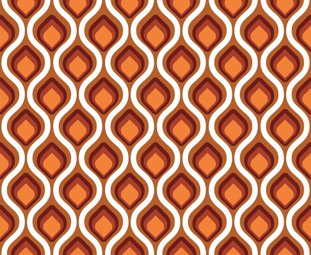 Retro seamless pattern peacock tail Premium Vector