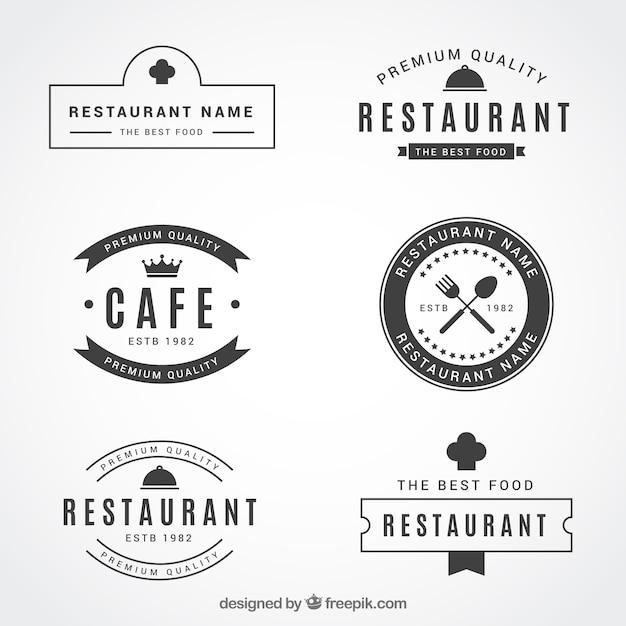 Retro set of classic restaurant logos