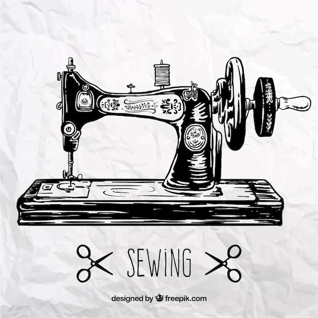 Retro Sewing Machine Vector Premium Download Stunning Sewing Machine Vector Free