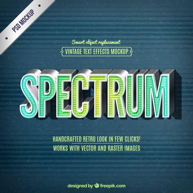 Retro spectrum lettering Free Vector