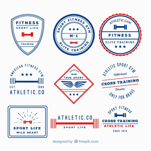 Retro sport life badges