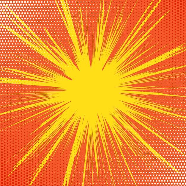 Retro starburst background Free Vector