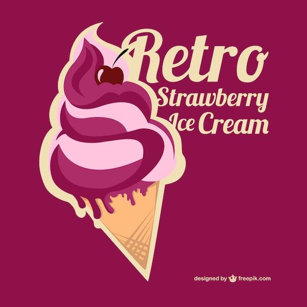 Ice Cream Free Vector Download 980 Free Vector For: Retro Strawberry Ice Cream Vector