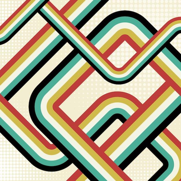 Ретро полосатый фон Бесплатные векторы