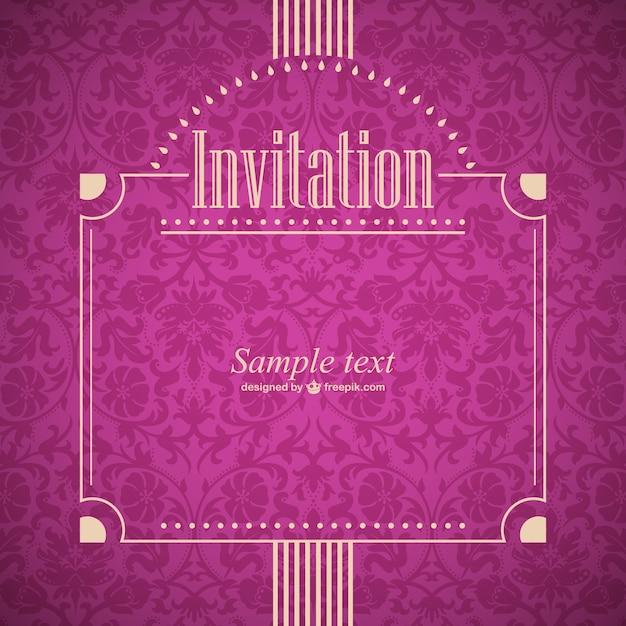 Retro style burgundy invitation vector free download retro style burgundy invitation free vector stopboris Image collections