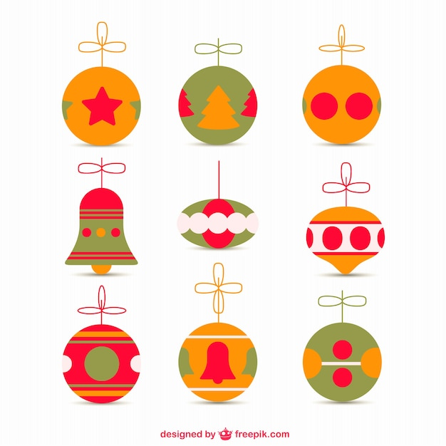 Fine Retro Christmas Ornaments Vector Free Retro Christmas Ornaments Easy Diy Christmas Decorations Tissureus