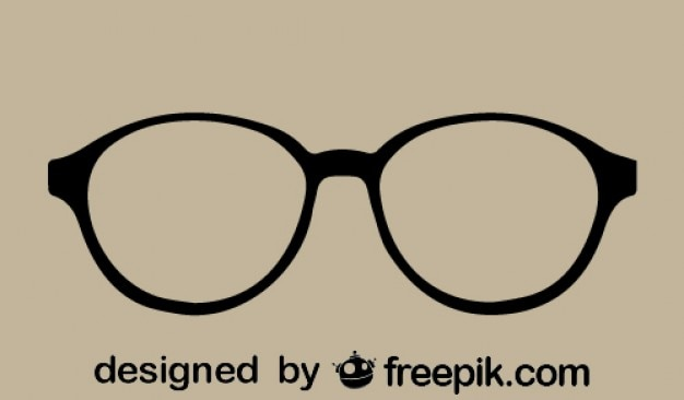 Retro style glasses Free Vector