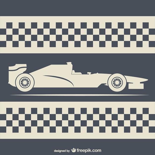Retro style racing background Premium Vector